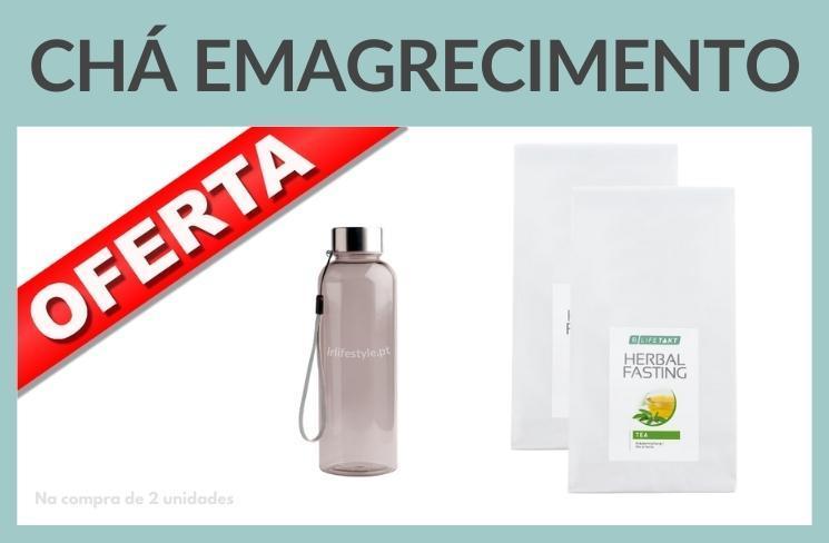 Chá emagrecimento herbal fasting oferta garrafa